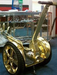 Gold segway custom built for 'Usher'