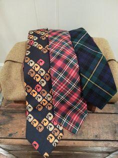 Vintage Mens 100% silk Italian Made Traditional by thejadedorris