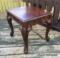 sales are a great way to find matched sets. Twin end tables are rare and are highly sought after in the furniture rehab world. We found Cora & Nora, along wit… Refinished End Tables, Painted End Tables, Paint Furniture, Furniture Projects, Furniture Makeover, Furniture Refinishing, Wood Projects, Furniture Design, Western Furniture
