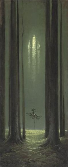 Konstantin Vasiliev. Forest Gothic Cathedral. 1973