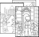 World Thinking Day: Girl Guide Coloring Pages and ideas for each country