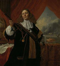 Johan de Liefde (ca. 1619-73). Vice-admiraal, Bartholomeus van der Helst, Ludolf Bakhuysen, 1668