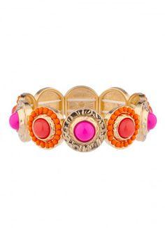 Overture Stone Bangle Bracelet Pink