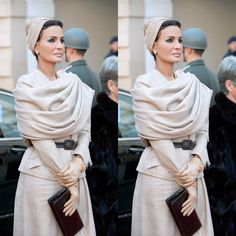 Sheikha Mozah was at the Welcoming Ceremony at...