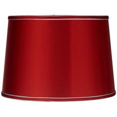A medium gold drum lamp shade with slim silver trim in a lovely satin material with a chrome finish spider fitter. Style # at Lamps Plus. Red Lamp Shade, Drum Shade, Corner Lamp, Dark Blue Walls, Basement Bar Designs, Floor Lamp Shades, Star Lamp, Grey Trim, Vintage Lamps