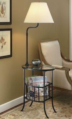Table/Lamp/Magazine Rack Combo