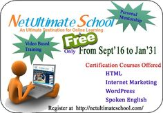 Get  Free certification Course .only for limited time!!
