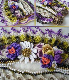 Crochet cuff Crochet bracelet Beaded cuff by KSZCrochetTreasures