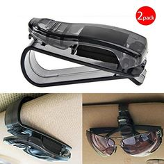 """Black Friday Deals Week Auto Car Sun Car Visor Glasses Sunglasses Ticket Clip Holder Eyeglasses Clip Car Holder Cash Money Card Holder(One Package Two Pcs). Securely attaches to the sun visor, do not obstruct driver's view,""""CHESE Sourcing Inc""""responsible for the quality of the goods, please distinguish it from another sales. Wide Usage: Can be used to clip glasses, business cards, tickets, etc. in the car sun shield top,Keep your glasses always handy. Adjusts to hold any eyeglasses..."""