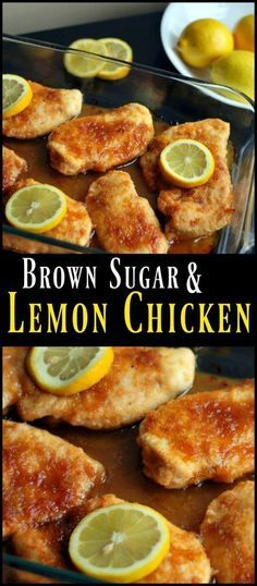 This Brown Sugar &  Lemon Chicken is by FAR or favorite chicken recipe!  The sweet & tangy sauce is TO DIE FOR!