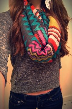 Patterned #scarf