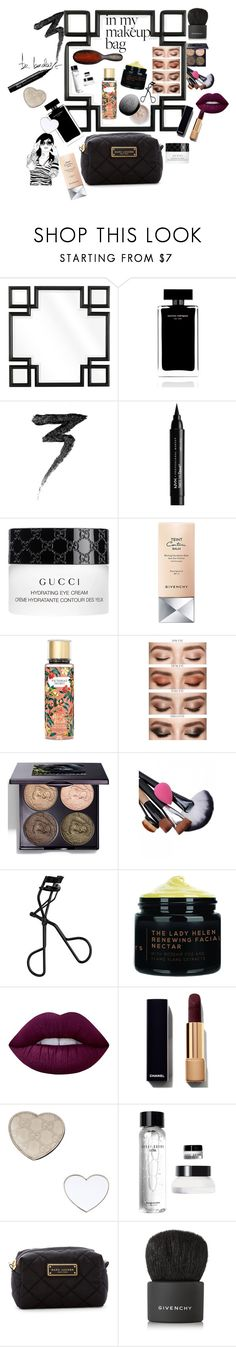 """""""🖤in my makeup bag..."""" by maijah ❤ liked on Polyvore featuring beauty, Eichholtz, Narciso Rodriguez, Manic Panic NYC, NYX, Gucci, Givenchy, Victoria's Secret, Chantecaille and Lime Crime"""