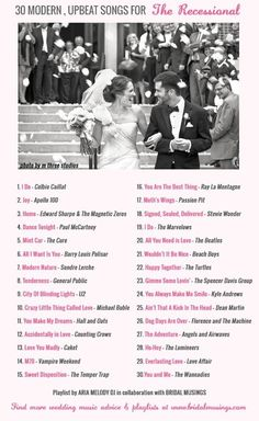 Modern, Upbeat Songs for the Recessional