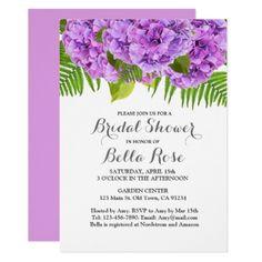 #bridal #shower #invitations - #Purple hydrangea bridal shower invitation