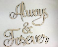 This is for a Always & Forever Wood cutout Choose from two sizes Always- 17 across x high high x across Forever- 19 across and high Total length not including spaces- 40 or NEW larger size across x 17 high across x 7 high Forever- 28 across x 10 high Nursery Name, Nursery Signs, Nursery Wall Art, Bedroom Wall, Cross Symbol, Deer Ornament, Baby Name Signs, Girl Sign, Photo Booth Backdrop
