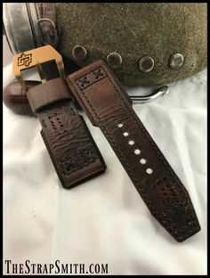 Vintage 100 year old military leather.  If it could talk…the stories it would tell!  #ww1 #vintage #military #character #watchstrap #custom #watchband #handmade