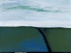 Colin McCahon, North Otago Landscape 11, 1967 New Zealand Art, Abstract Landscape, Art Education, Design Elements, Waves, Design Inspiration, World, Drawings, Nature