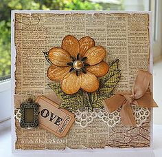 By Kath Stewart autumn colored beauty. For My handmade greeting… Handmade Greetings, Greeting Cards Handmade, Beautiful Handmade Cards, Thanksgiving Cards, Penny Black, Fall Cards, Vintage Cards, Vintage Handmade Cards, Vintage Paper