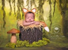 Newborn fox hat and tail set. Newborn fox bonnet. Fox. Newborn fox photo prop. Newborn fox outfit. by CrochetHarvest on Etsy https://www.etsy.com/listing/202672543/newborn-fox-hat-and-tail-set-newborn-fox