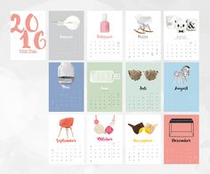 Pretty Things 2016 Calendar / Schöne Dinge 2016 on Behance