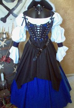 Hey, I found this really awesome Etsy listing at http://www.etsy.com/listing/162116179/blue-celtic-pirate-renaissance-steampunk