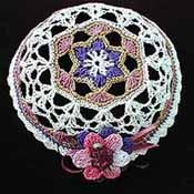 Ladies Hand Crocheted Kipah/Mauve/Purple ideas only