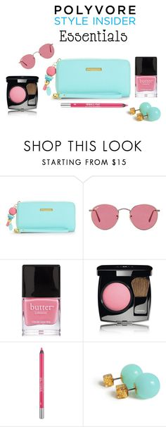 """""""Damn Cool"""" by mrudula-26 ❤ liked on Polyvore featuring beauty, Juicy Couture, Ray-Ban, Butter London, Chanel, Urban Decay, contestentry, PVStyleInsiderContest and makeupbagstaples"""