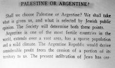 Herzl Teodore , Argentina o Plaestina?