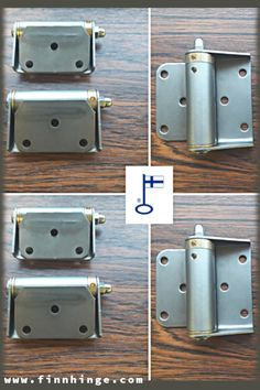 Another one of our spring-loaded safety gate hinge models - number Made of stainless steel can be ordered with or without a mounting plate. Visit our website to learn more about this and similar models! Gate Hinges, Industrial Safety, Metalworking, Plate, Hardware, Stainless Steel, Number, Doors, Models