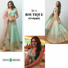 Wanna be a boutique woman? Get inspired by Andrea's from which is totally classy, and perfect for Indian woman who oozes oodles for exuberance! A Boutique, Lehenga, Women Wear, Vogue, Classy, Indian, Inspired, Woman, Formal Dresses