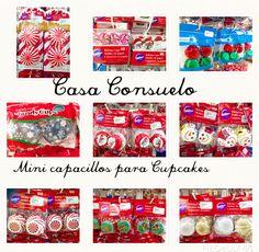 Llegó Navidad! Elaboremos mini cupcakes navideños con estos hermosos capacillos A que no te decidirte por uno solo