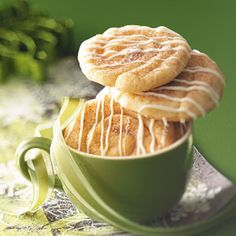 Intense cinnamon flavor fills this yummy cross between a snickerdoodle and a cinnamon roll.
