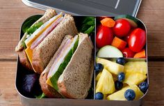 LunchBots Bento Trio LARGE All Stainless 3 Section Food Container For Adults and Children Lunch Box: Kitchen & Dining Lunch Meal Prep, Easy Meal Prep, Healthy Meal Prep, Healthy Snacks For Kids, Healthy Foods To Eat, Healthy Eating, Lunch Snacks, Lunch Recipes, Healthy Dinner Recipes