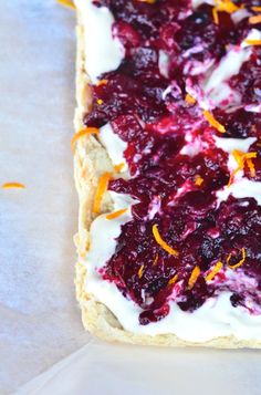 Cranberry and Orange Shortbread is a special treat for the holidays. ReluctantEntertainer.com