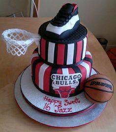 Chicago bulls cake My cakes Pinterest Chicago bulls cake