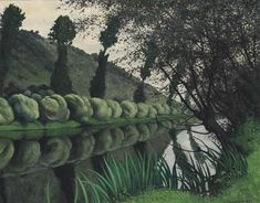 The Seine river lined with willow trees, Tournedos, 1922 by Felix Edouard Vallotton on Curiator, the world's biggest collaborative art collection. Pierre Bonnard, Green Landscape, Landscape Art, Landscape Paintings, Edouard Vuillard, Maurice De Vlaminck, Maurice Denis, Art Moderne, French Artists