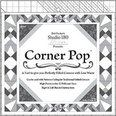 Corner Pop Quilting Tool. Gift wrap available, don't think I need the gift wrap but 22 options for corners sounds wonderful.