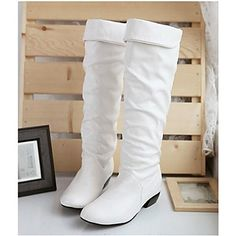 [CyberMondaySale]Women's Shoes Fashion Boots Chunky Heel Knee High Boots More Colors available – USD $ 19.99