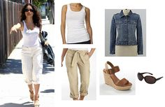 Look for Less: Salma Hayek | | The Krazy Coupon Lady - love this look for a day in the sun