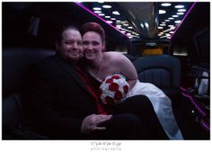 Last picture of the night! After the exit, a picture in the limo right before the honeymoon :)