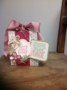 Gift card holder w/ candy. Made w/ all SU products.