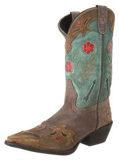 Laredo Miss Kate braun mit braun, Teal Pfeil-52138Frauen Stiefel-Jeansstoff, braun - braun - Größe: 41 EU M - Stiefel für frauen (*Partner-Link)