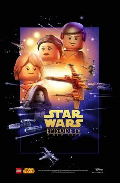 Star Wars episode IV - A New Hope movie poster lego Star Wars Film, Star Wars Episoden, Star Wars Gifts, Star Wars Poster, Star Wars Party, Lego Marvel, Lego Batman, Spiderman, Starwars Lego