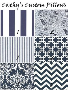 Other designs that will go good with the navy/white striped nautical theme