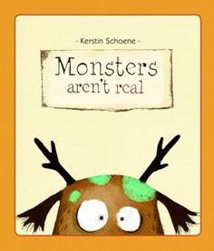 Monsters Aren't Real by Kerstin Schoene: It's hard enough on a guy's self-concept to be a bit, well, quirky-looking. Four horns. Big lopsided eyes with a beady stare. Green lichens growing on his head.    And now you're saying I don't even EXIST? But... look! There I am in the mirror. Listen here!
