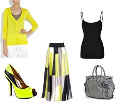 """""""Yellow,Grey,and Black!!! 3"""" by ciaraflynn on Polyvore"""