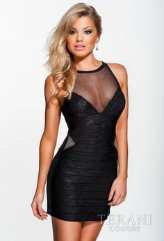 TERANI Couture for HomecomingEvening Dress3641Sultry In Style!
