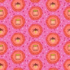 Michael Miller Glow Friends fabric by NicePomPoms on Etsy