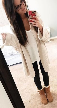 trendy skirt outfits for winter leggings ugg boots – Outfit Winter Outfits For Teen Girls, Fall Winter Outfits, Summer Outfits, Casual Outfits, Mens Fall Outfits, Mode Outfits, Skirt Outfits, Fashion Outfits, Cute Outfits With Leggings