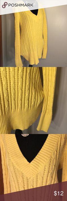 Yellow  Cozy Knit Sweater 100% Cotton, super cozy knit sweater. Lane Bryant Sweaters